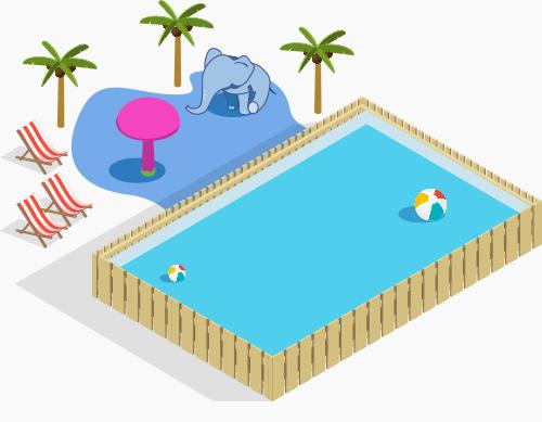 illustration des Plages en ville et aires de jeux aquatiques
