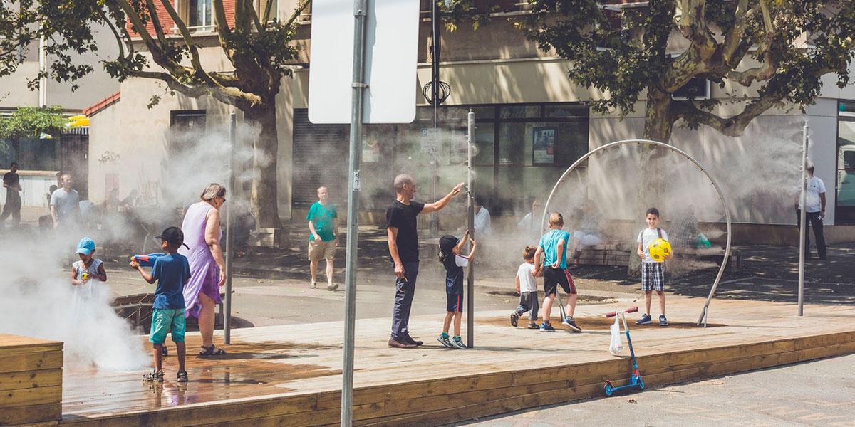 Brumisation en ville